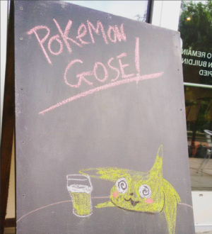 """You can't even escape <em>Pokémon Go</em>at your <a href=""""https://www.instagram.com/p/BWAttsklGGa/?taken-by=arstechnica"""">local craft beer bottle store</a>."""