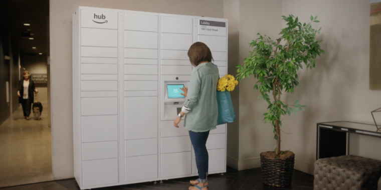 Amazon made a package delivery lockerspecifically for apartments