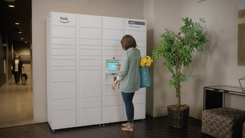 Amazon made a package delivery locker specifically for apartments