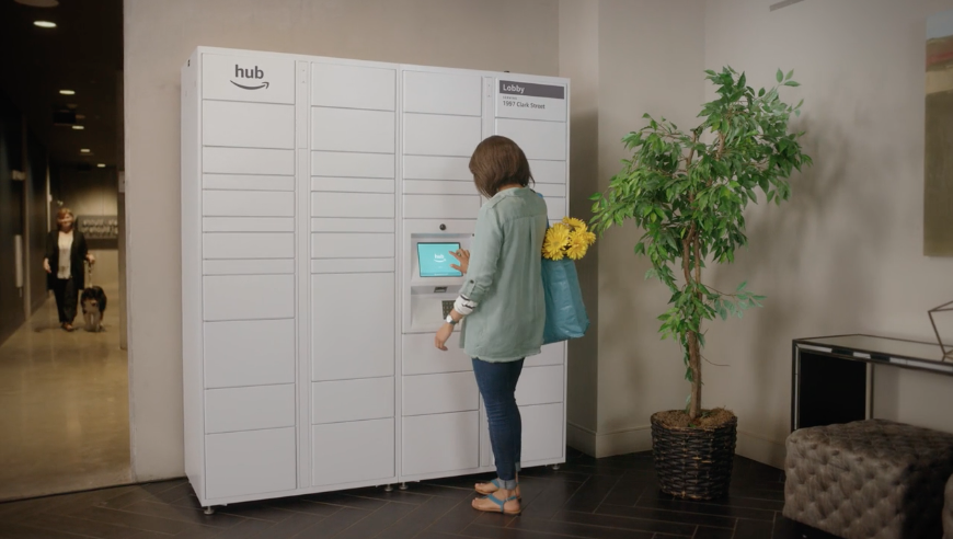 Amazon made a package delivery locker specifically for ...