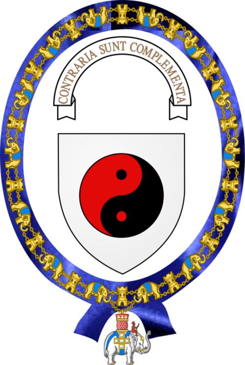 Niels Bohr's coat of arms.