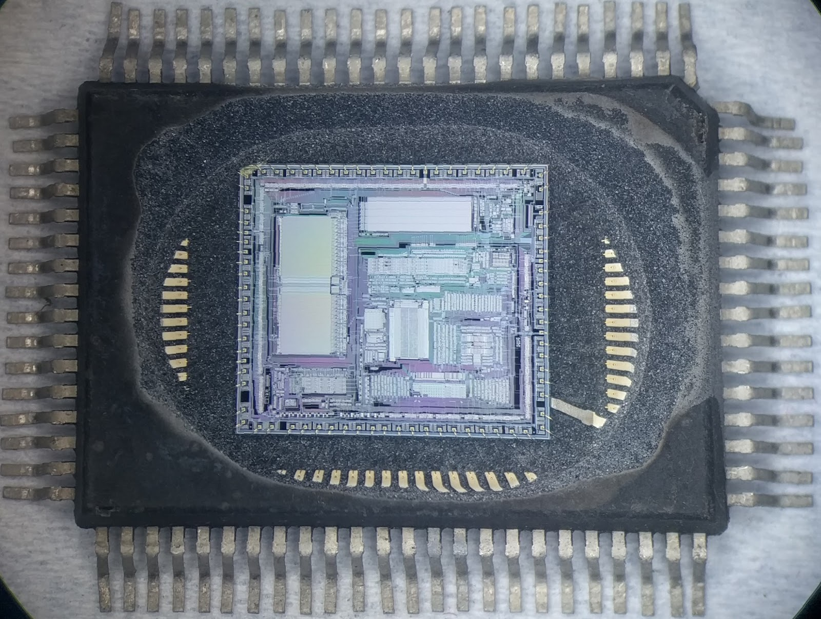 Mame Devs Are Cracking Open Arcade Chips To Get Around Drm Ars Logic Circuit Of Copy Machine Digital Electronics Life Learns Us Enlarge A Look Inside The Circuitry Decapped Chip