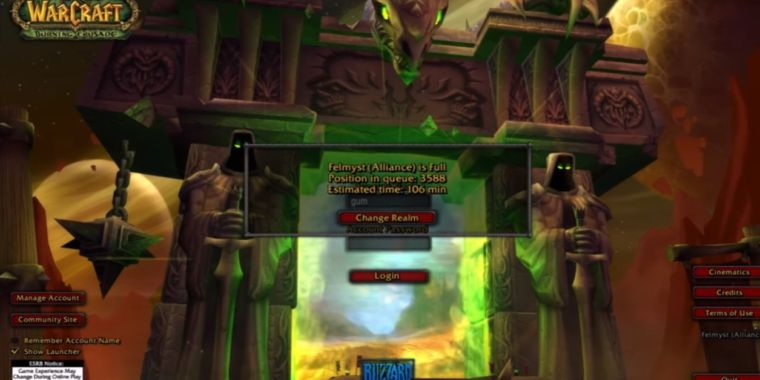 """Blizzard shuts down """"legacy"""" WoW fan server hours after it goes up"""