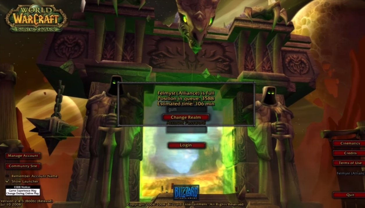 blizzard shuts down legacy wow fan server hours after it goes up