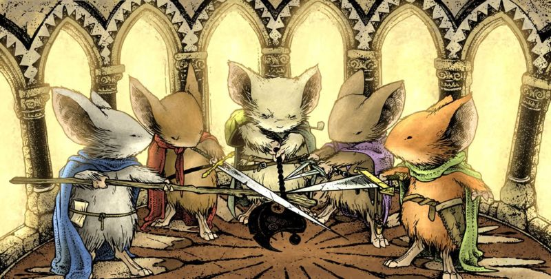 Could this be the first step toward the Mouse Guard from David Petersen's amazing comic book?