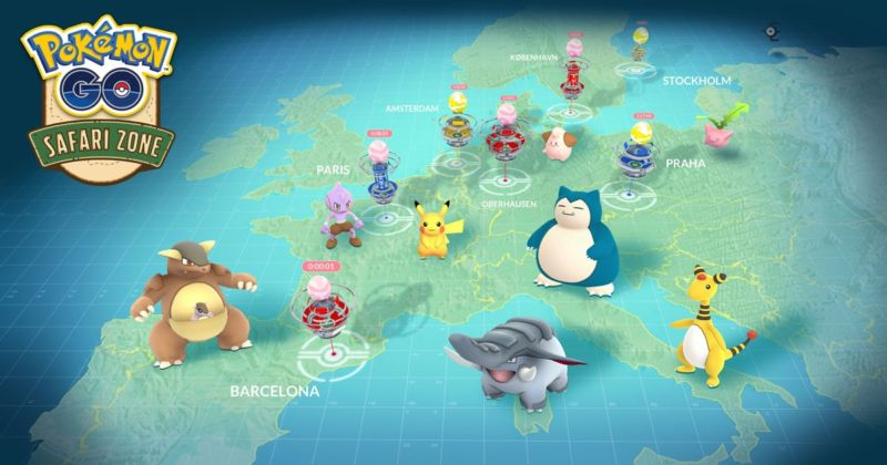 Much of Europe will have to wait for Niantic's planned Safari Zone events.
