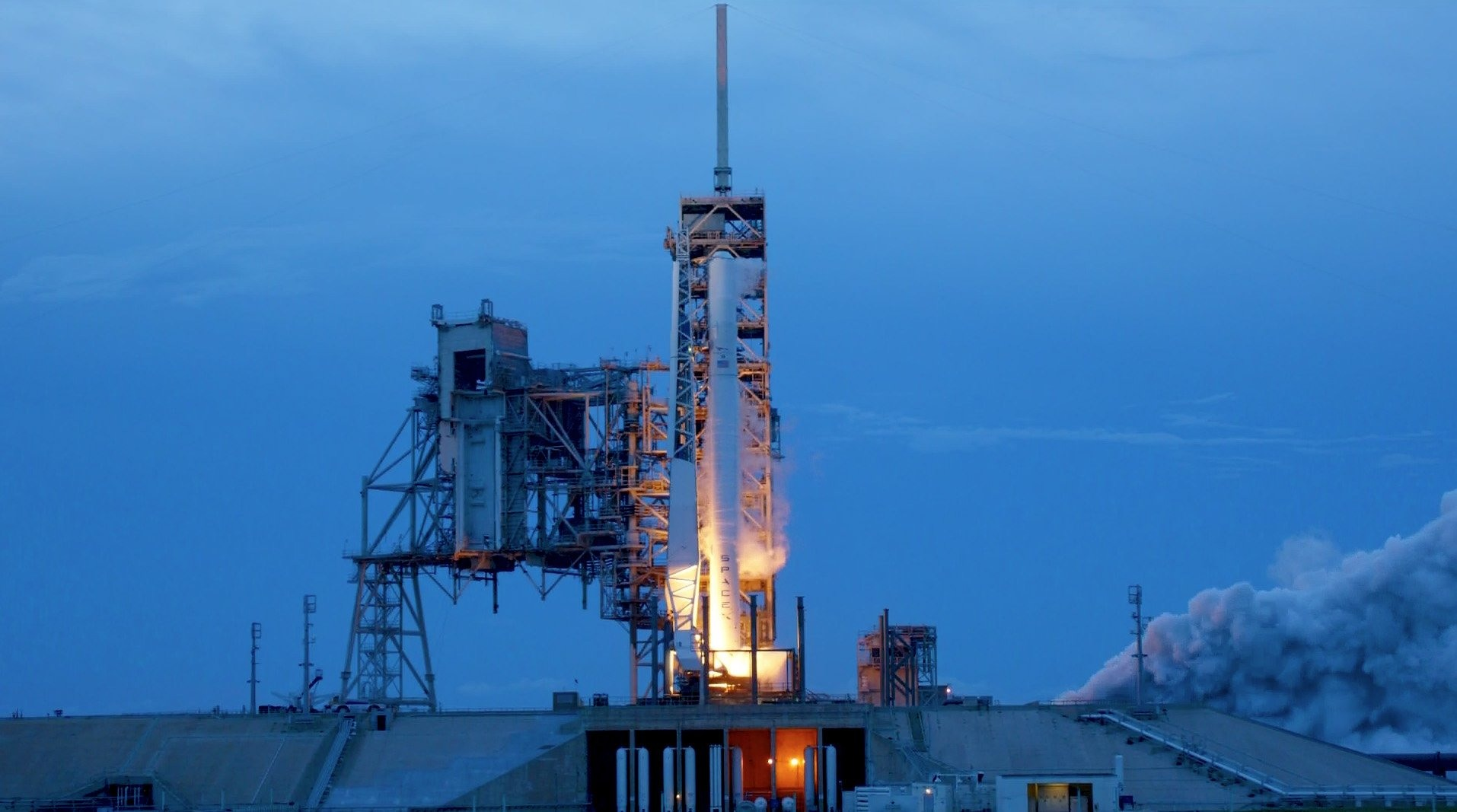 enlarge spacex completed a static firing on thursday evening ahead of sunday s planned launch