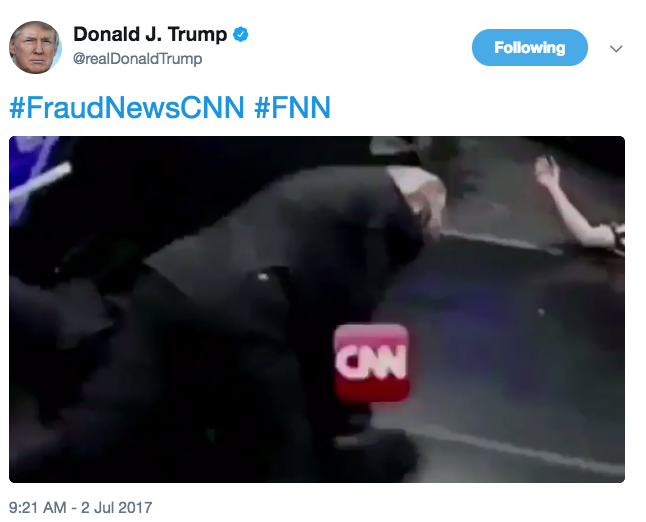 On July 2, President Donald Trump tweeted a video of himself wrestling CNN.