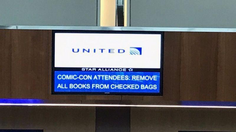 TSA: United made false announcement about comic book luggage ban