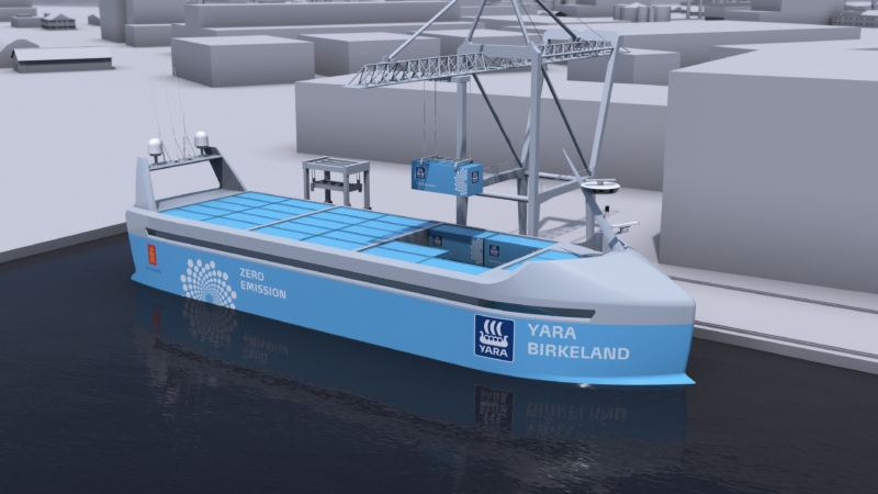 The world's first crewless ship will launch next year
