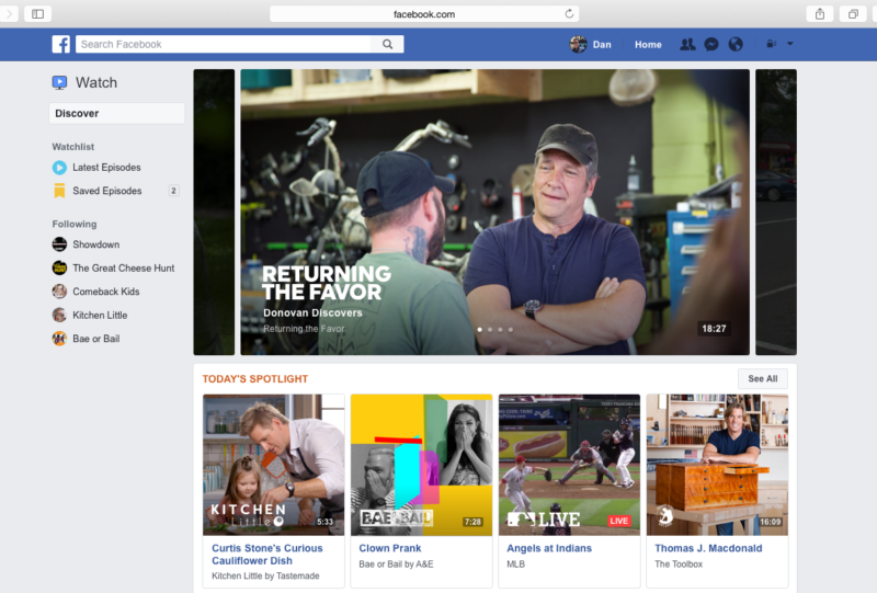 Facebook's original video platform will launch with Mike Rowe, MLB, and more