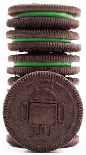 Nabisco produced a limited run of Android-themed Oreos for the launch event.