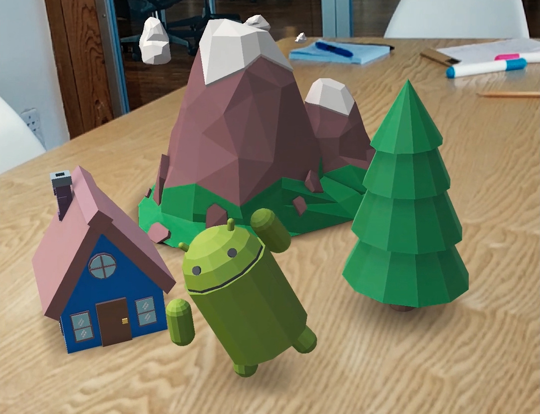 Who wouldn't want a virtual Android on their table?