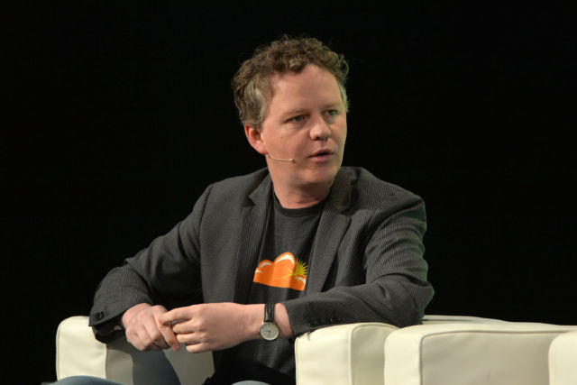Cloudflare CEO Matthew Prince at a 2014 TechCrunch Disrupt conference in London.