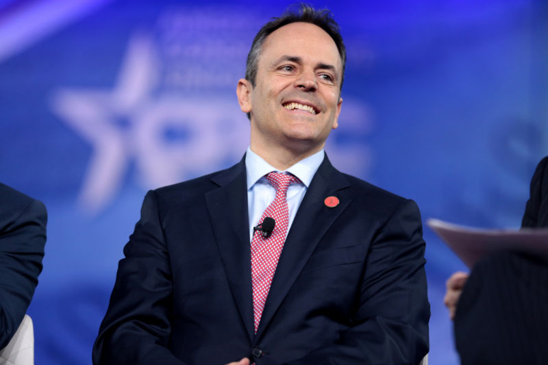 Matt Bevin is the governor of Kentucky.