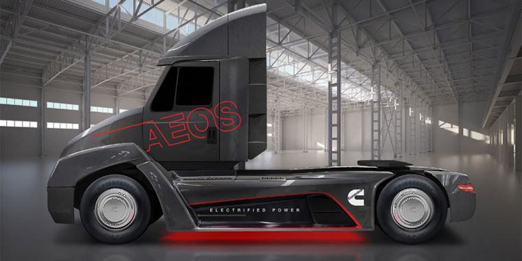 Cummins Diesel Engines >> Engine maker Cummins shows off all-electric truck, high ...