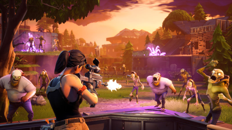 At its best, <em>Fortnite</em> looks (and feels) like this nicely staged promo pic of in-game action. However, so many free-to-play annoyances drag this &quot;build a base, blast some zombies&quot; potential to the unseemly depths.
