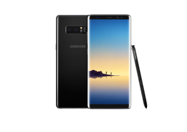 Galaxy Note8 in Midnight Black.
