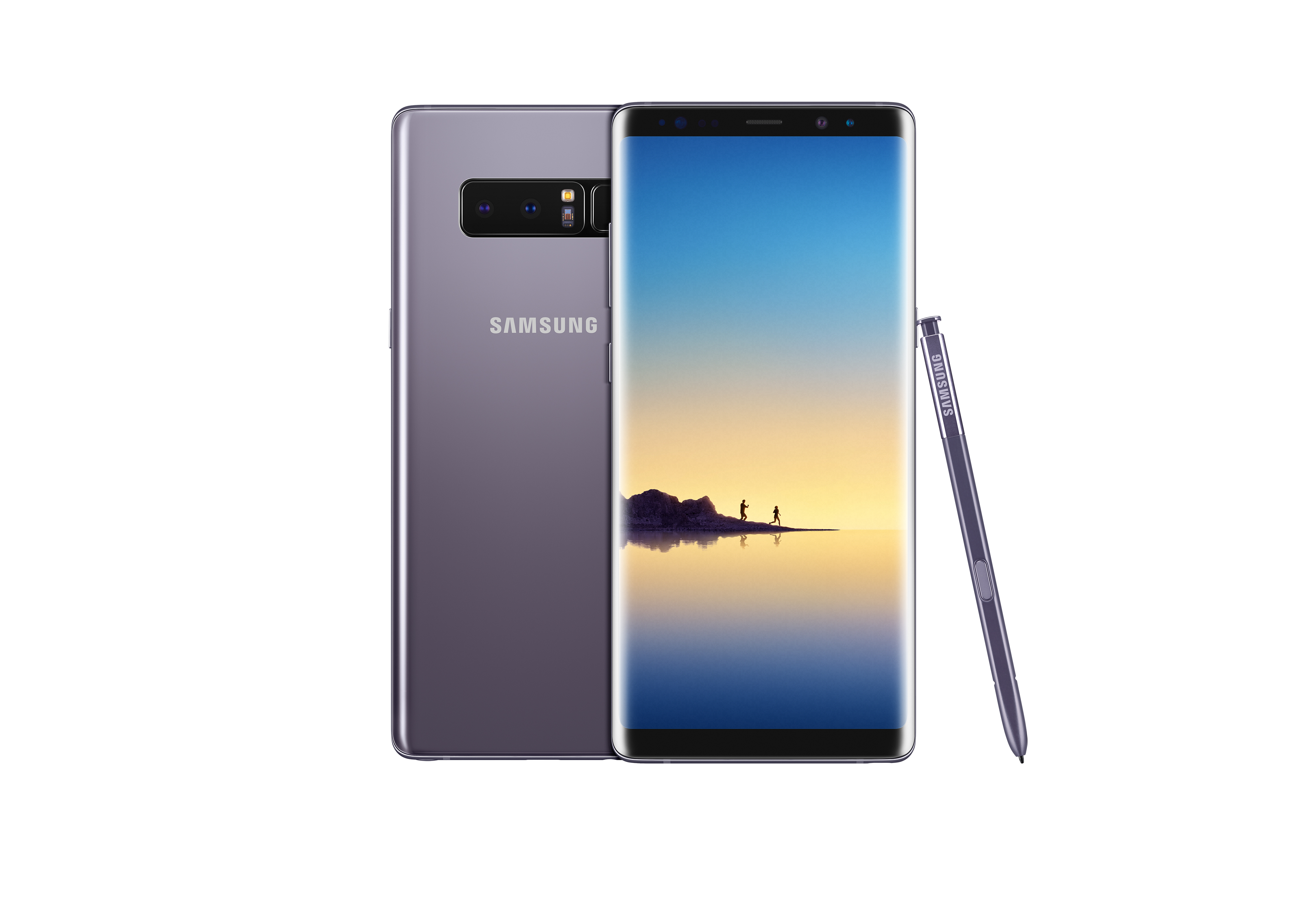 Galaxy Note8 in Orchid Gray.