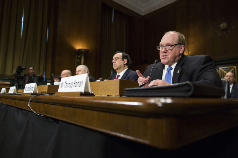 Thomas Homan, Acting Director of U.S. Immigration and Customs Enforcement, seen here during a February 2016 Senate hearing.