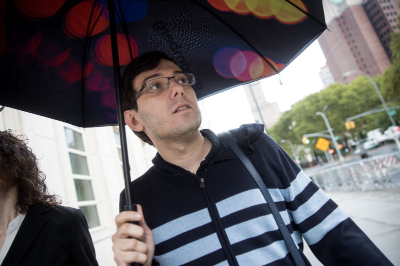 NEW YORK, NY - AUGUST 4: Former pharmaceutical executive Martin Shkreli arrives at the U.S. District Court for the Eastern District of New York, August 4, 2017 in the Brooklyn borough of New York City. Jurors are onto the fifth day of deliberations and have not reached a verdict. Shkreli faces eight counts of securities fraud and conspiracy to commit securities and wire fraud.