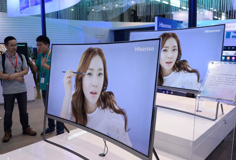 Hisense televisions at the Consumer Electronics Show in Asia in 2015.