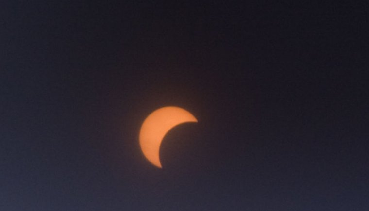 The partial eclipse from New York City.