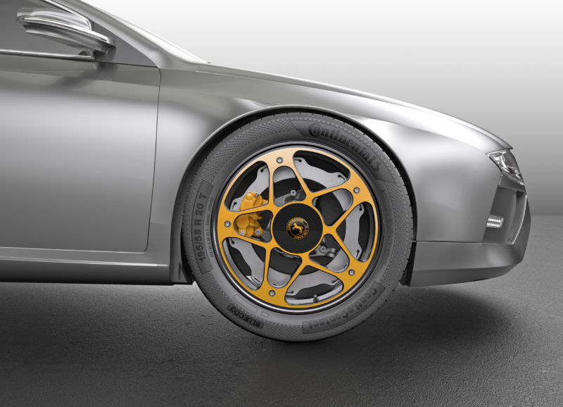 Continental rethinks the wheel—and the brake—for electric cars