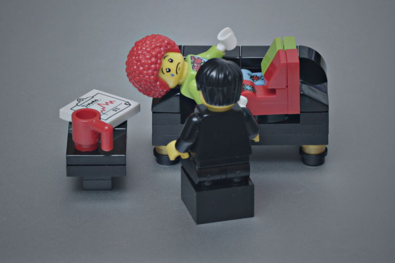 Even Lego clowns need therapy sometimes.