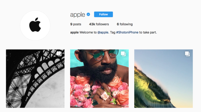 Apple opens new Instagram account, populates it with photos from #ShotoniPhone