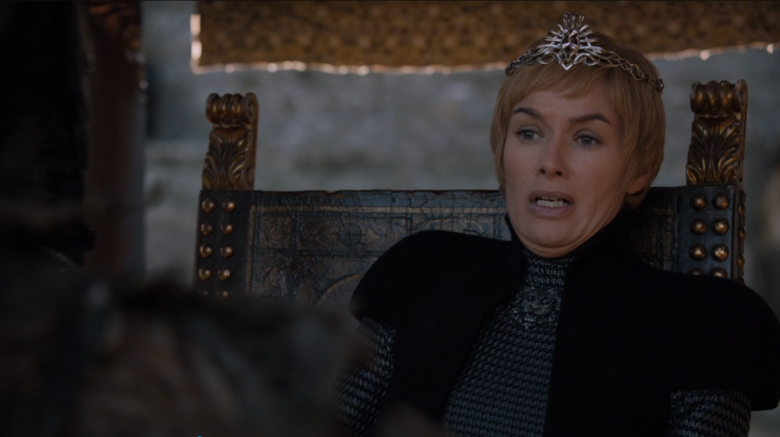 Look, Cersei is obviously cold-blooded, and not just any garden variety zombie is going to solicit this reaction.