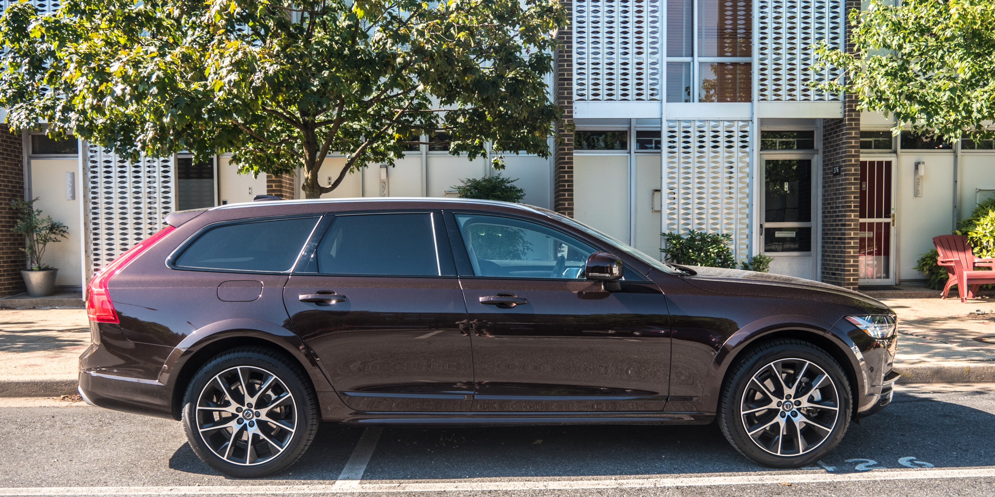 The 2017 Volvo V90 Cross Country A Brown Station Wagon For