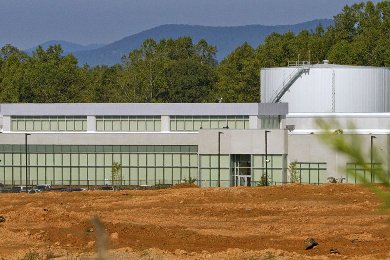 An Apple data center under construction in Maiden, North Carolina, in 2010.