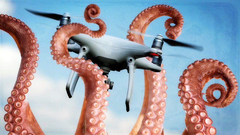 Aurich tells me he didn't purposefully make the drone look like it has a shocked face, but I can't un-see it.