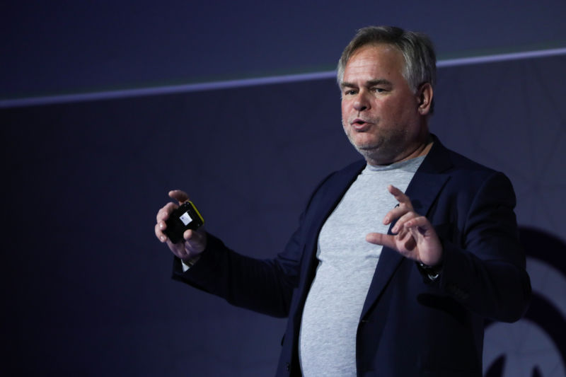 Eugene Kaspersky, CEO and founder of Kaspersky Lab, at Mobile World Congress in Barcelona.