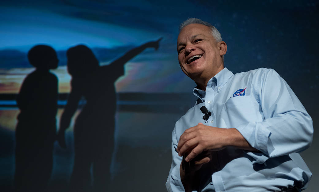NASA Acting Chief Technologist Douglas speaks in New York City in August.