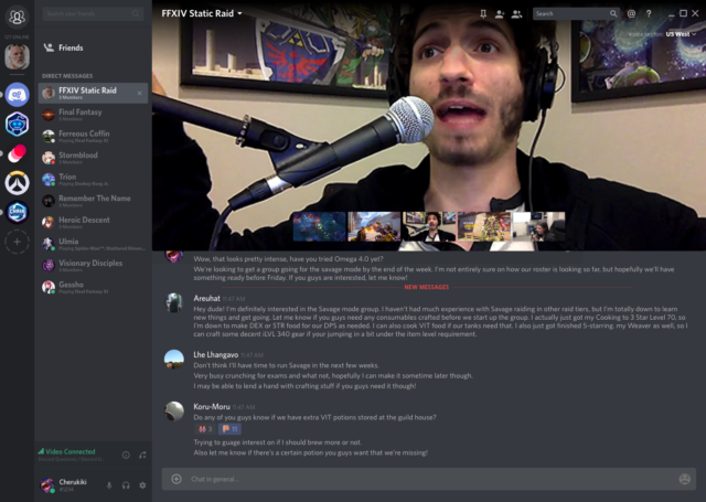 We try Discord's new video features, ask if game-chat app
