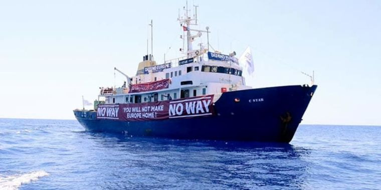photo image Crowdfunded anti-refugee ship loses Patreon, propulsion