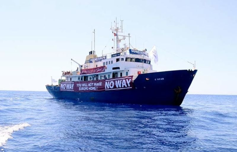The Generation Identity crowdfunded ship C-Star broke down off Libya's coast this morning.