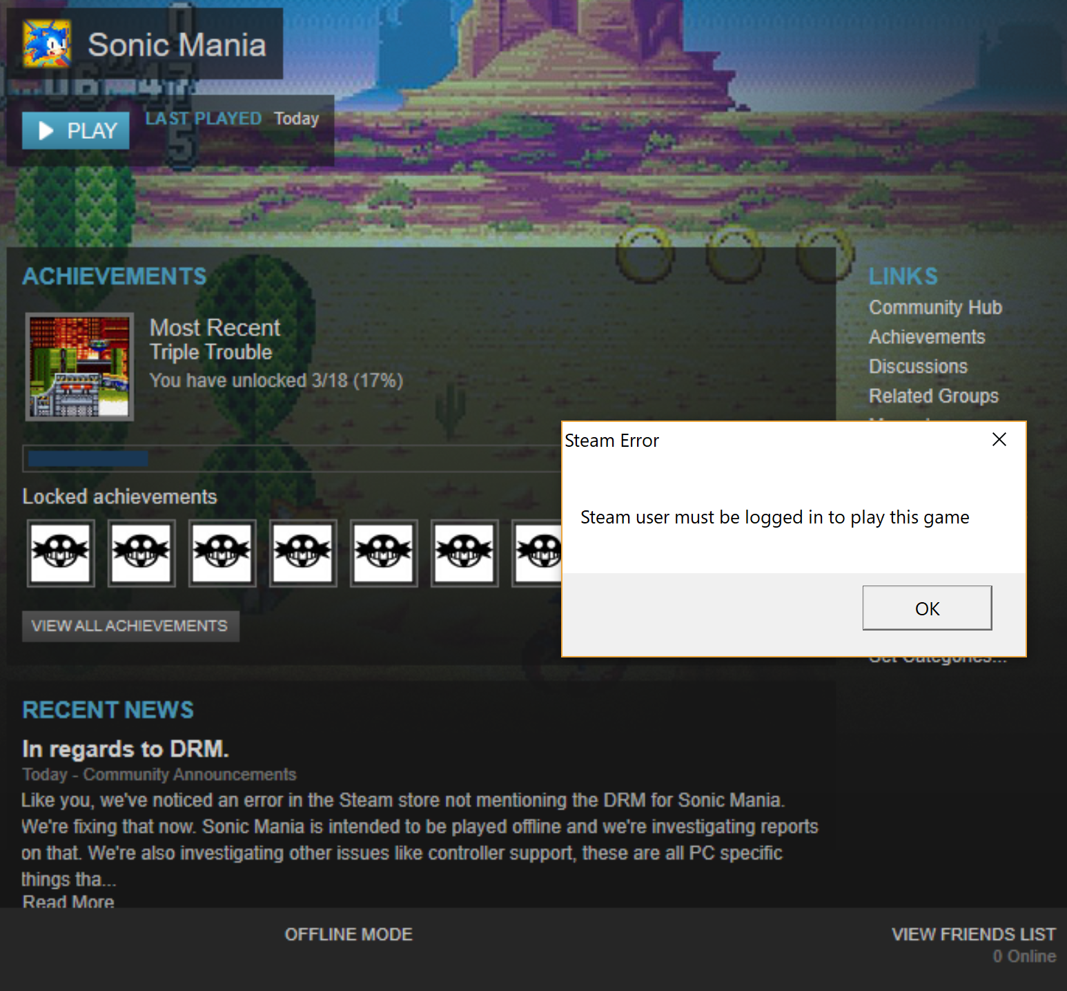 Sonic Mania Getting Review-Bombed on Steam