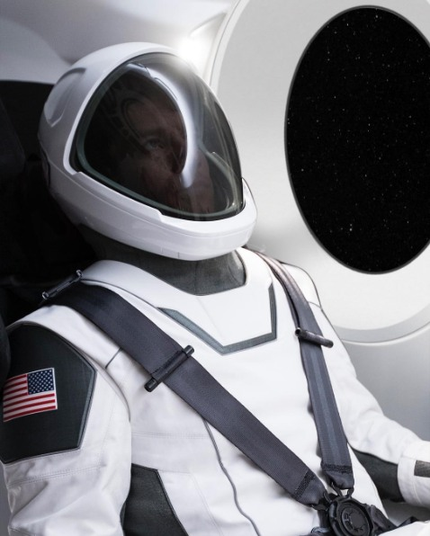 The full spacesuit image unveiled by Musk.