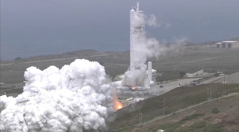The static fire test of the Falcon 9 rocket launch of Formosat-5 is completed last week.