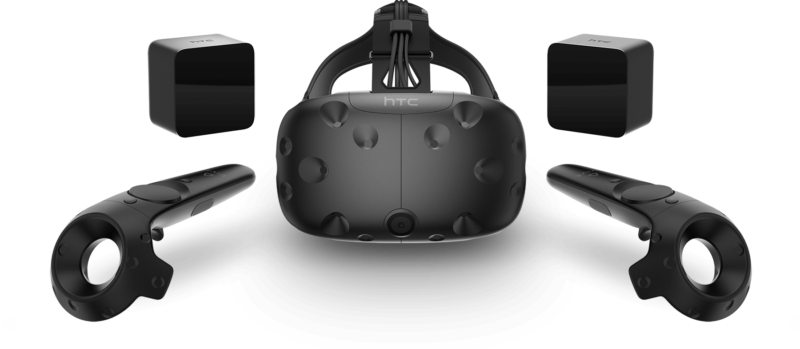 Take heed: the newly discounted HTC Vive bundle, pictured here, includes the old head strap without either embedded headphones or a more comfortable fit.