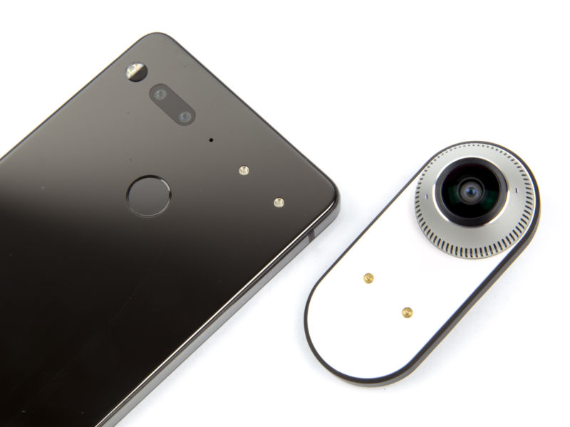 Pictures of Essential's products.