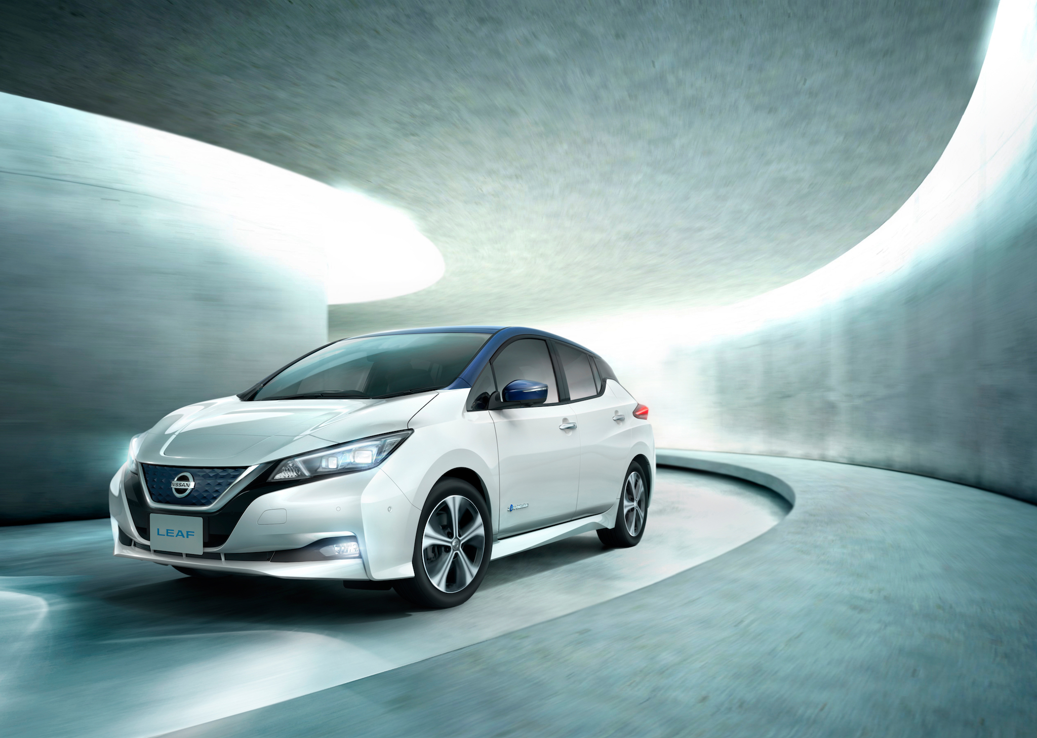 The all-new 2018 Nissan Leaf. When it arrives in January in the US, it will have a 150-mile range and a base price of under $30,000.