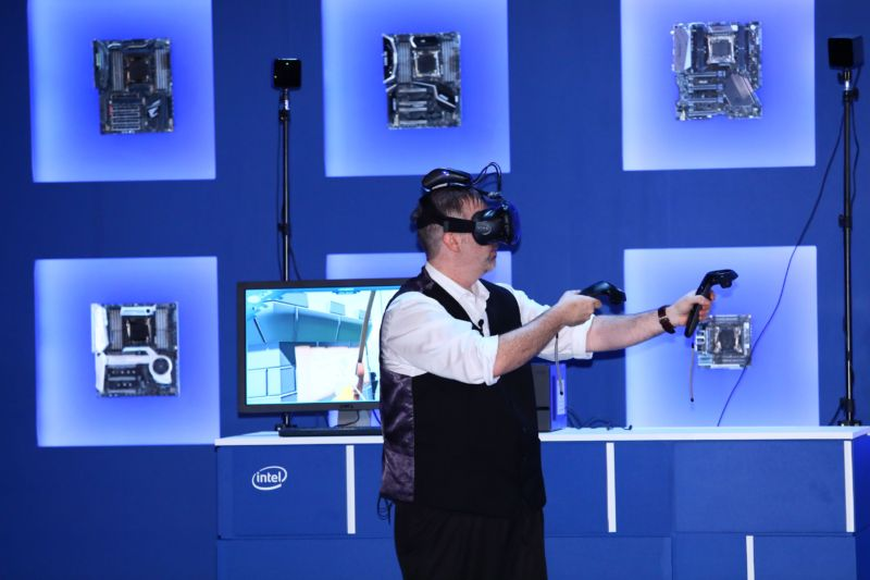 Intel demo of an HTC Vive with WiGig at Computex this year.