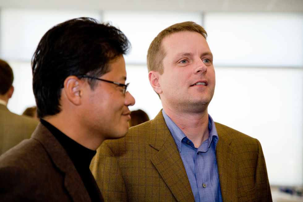 Yahoo co-founders Jerry Yang and David Filo.