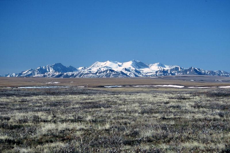 Alaska, Arctic National Wildlife Refuge, ANWR, Brooks Range across Coastal Plain. (Photo by: Education Images/UIG via Getty Images)