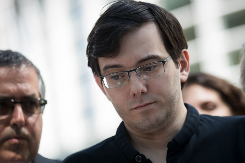 Martin Shkreli looks disappointed.