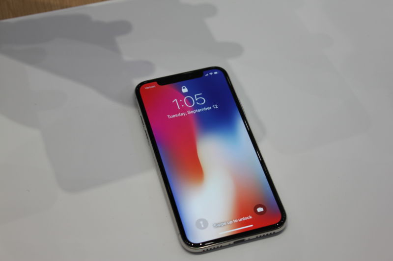 The display dominates the iPhone X.